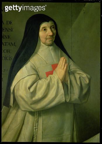 <b>Title</b> : Portrait of Mother Catherine-Agnes Arnauld (1593-1671) 1662 (detail of 89736)<br><b>Medium</b> : <br><b>Location</b> : Louvre, Paris, France<br> - gettyimageskorea