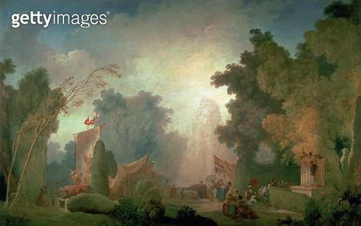 <b>Title</b> : The Fete at Saint-Cloud (oil on canvas) (for detail see 89791)<br><b>Medium</b> : <br><b>Location</b> : Banque de France, Paris, France<br> - gettyimageskorea