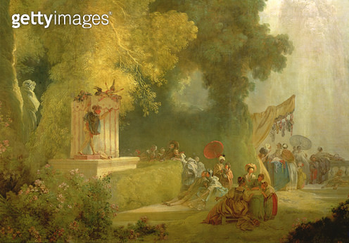 <b>Title</b> : The Fete at Saint-Cloud, detail of the Puppet Show (oil on canvas) (detail of 89790)<br><b>Medium</b> : oil on canvas<br><b>Location</b> : Banque de France, Paris, France<br> - gettyimageskorea