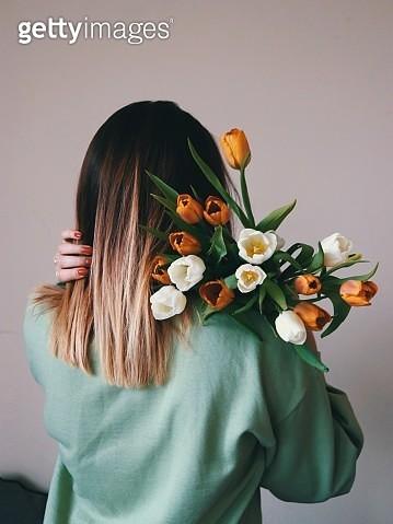 Tulip Behind - gettyimageskorea
