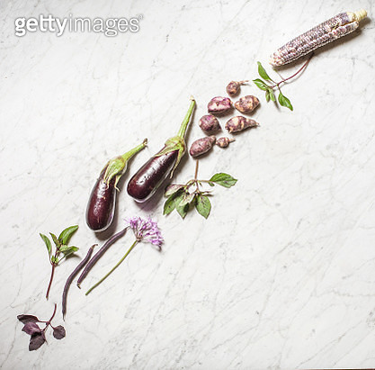 Purple Vegetable Collection - gettyimageskorea