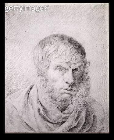 <b>Title</b> : Self Portrait, c.1810 (black chalk on paper)<br><b>Medium</b> : black chalk on paper<br><b>Location</b> : Staatliche Museen, Berlin, Germany<br> - gettyimageskorea