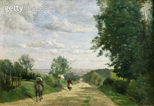 <b>Title</b> : The Road to Sevres, 1858-59 (oil on canvas) (oil on canvas)<br><b>Medium</b> : oil on canvas<br><b>Location</b> : Louvre, Paris, France<br> - gettyimageskorea