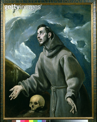 <b>Title</b> : St. Francis Receiving the Stigmata (oil on canvas)<br><b>Medium</b> : <br><b>Location</b> : Private Collection, Madrid, Spain<br> - gettyimageskorea
