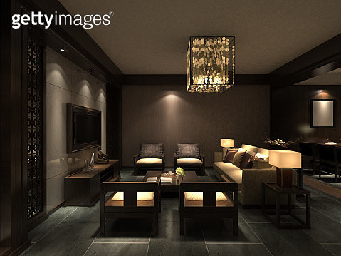 Chinese Living Room Interior - gettyimageskorea