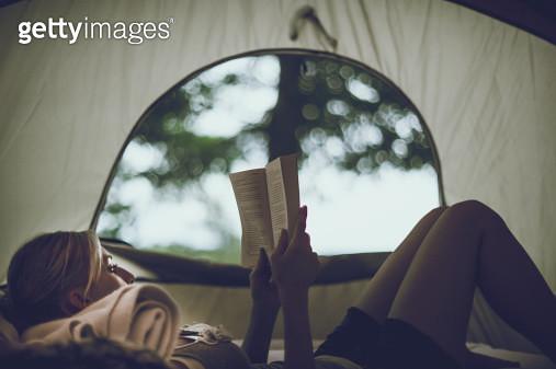 Tent Reading - gettyimageskorea