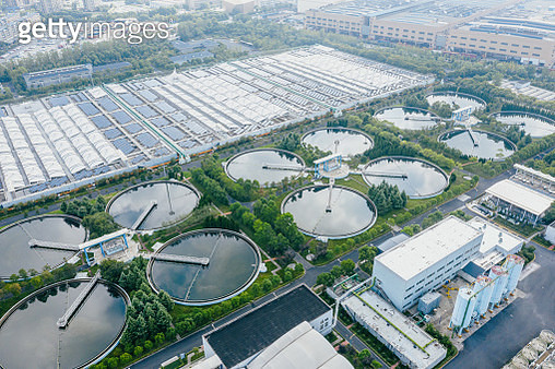 solar power station with water treatment plant - gettyimageskorea