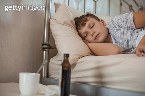 Boy Taking a Nap - gettyimageskorea