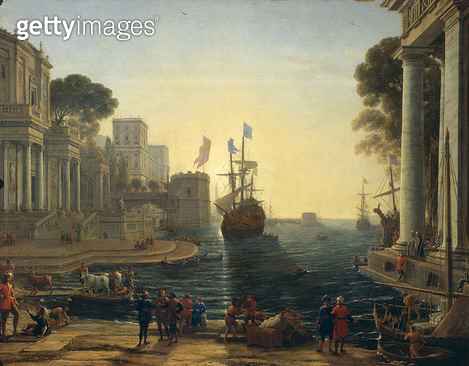 <b>Title</b> : Ulysses Returning Chryseis to her Father (oil on canvas)<br><b>Medium</b> : oil on canvas<br><b>Location</b> : Louvre, Paris, France<br> - gettyimageskorea