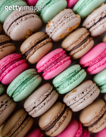 Assorted Colorful Macaroons - gettyimageskorea