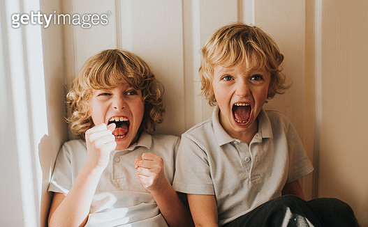 Brothers having fun together. - gettyimageskorea