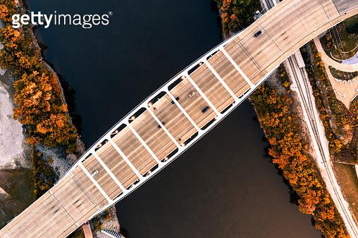 Nashville Bridge Overhead - gettyimageskorea
