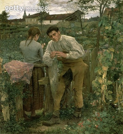 <b>Title</b> : Rural Love, 1882 (oil on canvas)<br><b>Medium</b> : oil on canvas<br><b>Location</b> : Pushkin Museum, Moscow, Russia<br> - gettyimageskorea