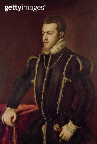 <b>Title</b> : Portrait of Philip II (1527-98) of Spain (oil on canvas)<br><b>Medium</b> : oil on canvas<br><b>Location</b> : Palazzo Barberini, Rome, Italy<br> - gettyimageskorea