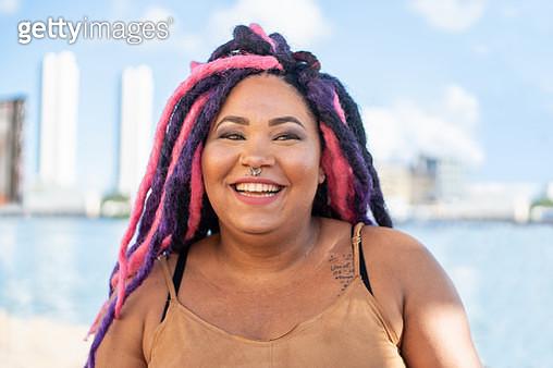 Portrait of punk woman - gettyimageskorea
