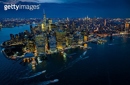 New York, New York City, City lights at night - gettyimageskorea