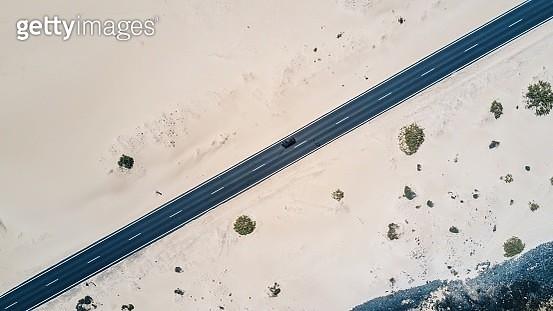 Aerial View Of Car Against Sky - gettyimageskorea