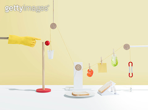 Based on the Rube Goldberg machines where simple tasks are made complicated - gettyimageskorea