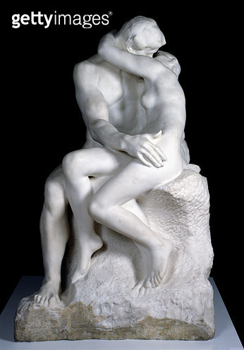 <b>Title</b> : The Kiss, 1888-98 (marble) (see also 190950)Additional Infoalso known as 'Paolo and Francesca';<br><b>Medium</b> : marble<br><b>Location</b> : Musee Rodin, Paris, France<br> - gettyimageskorea