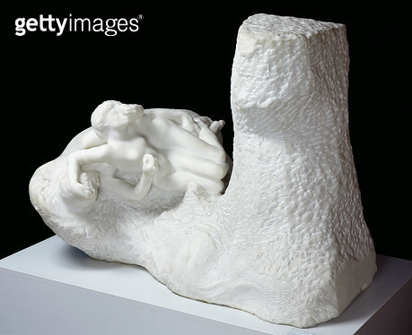 <b>Title</b> : Paolo and Francesca, c.1905 (marble)<br><b>Medium</b> : marble<br><b>Location</b> : Musee Rodin, Paris, France<br> - gettyimageskorea