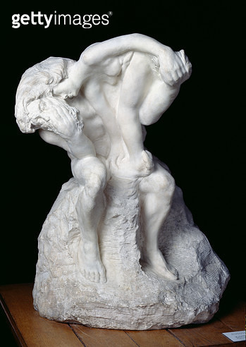 <b>Title</b> : The Sculptor and his Muse, 1895 (stone)Additional InfoLe Sculpteur et sa muse;<br><b>Medium</b> : stone<br><b>Location</b> : Musee Rodin, Paris, France<br> - gettyimageskorea