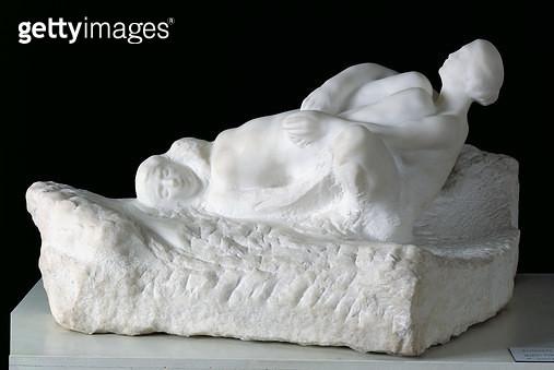 <b>Title</b> : Icarus Falling, before 1910 (marble)<br><b>Medium</b> : marble<br><b>Location</b> : Musee Rodin, Paris, France<br> - gettyimageskorea