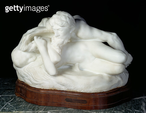 <b>Title</b> : Psyche-Spring, also known as the Suprised Nymph, or The Spring, 1886 (marble)Additional InfoPsyche Printemps, ou Nymphe surprise<br><b>Medium</b> : marble<br><b>Location</b> : Musee Rodin, Paris, France<br> - gettyimageskorea