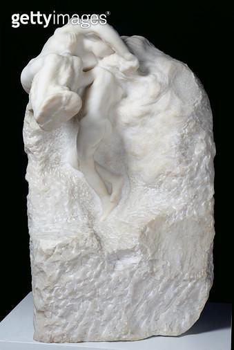 <b>Title</b> : The Earth and the Moon, 1899 (marble)Additional InfoLa Terre et la lune, ou Le Soleil et la lune, L'Ame se detachant de la matie<br><b>Medium</b> : marble<br><b>Location</b> : Musee Rodin, Paris, France<br> - gettyimageskorea