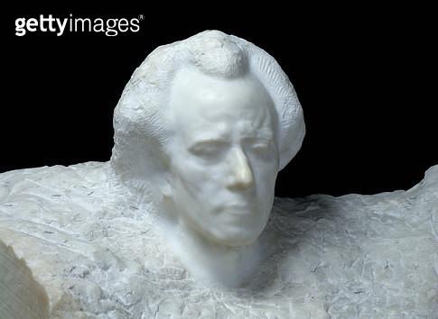 <b>Title</b> : Mozart (portrait of Gustav Mahler), 1911 (marble)<br><b>Medium</b> : marble<br><b>Location</b> : Musee Rodin, Paris, France<br> - gettyimageskorea