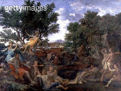 <b>Title</b> : Apollo, Lover of Daphne, c.1664 (oil on canvas)<br><b>Medium</b> : oil on canvas<br><b>Location</b> : Louvre, Paris, France<br> - gettyimageskorea