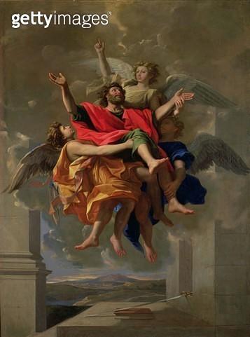 <b>Title</b> : The Vision of St. Paul, 1649-50 (oil on canvas)Additional InfoLa Ravissement de Saint Paul;<br><b>Medium</b> : oil on canvas<br><b>Location</b> : Louvre, Paris, France<br> - gettyimageskorea