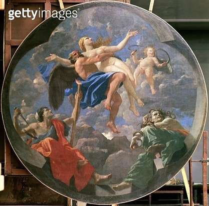 <b>Title</b> : Truth Stolen Away by Time Beyond the Reach of Envy and Discord, 1641 (oil on canvas)Additional Infocommissioned by the Cardinal<br><b>Medium</b> : oil on canvas<br><b>Location</b> : Louvre, Paris, France<br> - gettyimageskorea