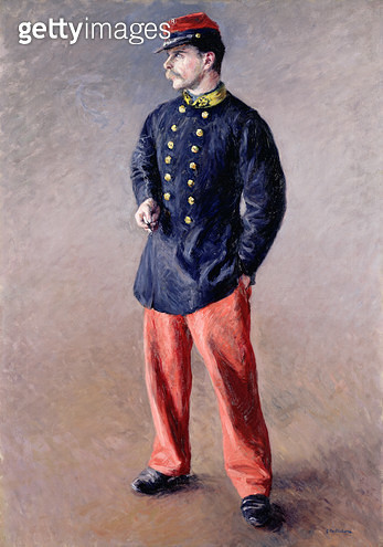<b>Title</b> : A Soldier, 1881 (oil on canvas)<br><b>Medium</b> : oil on canvas<br><b>Location</b> : Private Collection<br> - gettyimageskorea