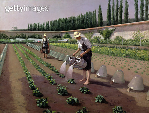 <b>Title</b> : The Gardeners (oil on canvas)<br><b>Medium</b> : oil on canvas<br><b>Location</b> : Private Collection<br> - gettyimageskorea