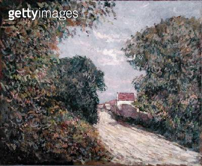 <b>Title</b> : Path at the edge (oil on canvas)Additional InfoChemin a l'oree d'un bois;<br><b>Medium</b> : oil on canvas<br><b>Location</b> : Private Collection<br> - gettyimageskorea