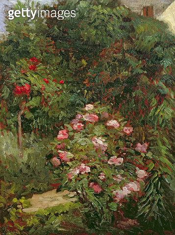 <b>Title</b> : Clump of flowers (oil on canvas)<br><b>Medium</b> : oil on canvas<br><b>Location</b> : Private Collection<br> - gettyimageskorea