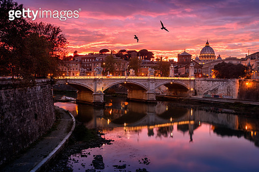 Sunset in Rome - gettyimageskorea