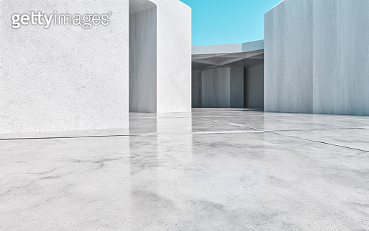 concrete building background. 3d render - gettyimageskorea