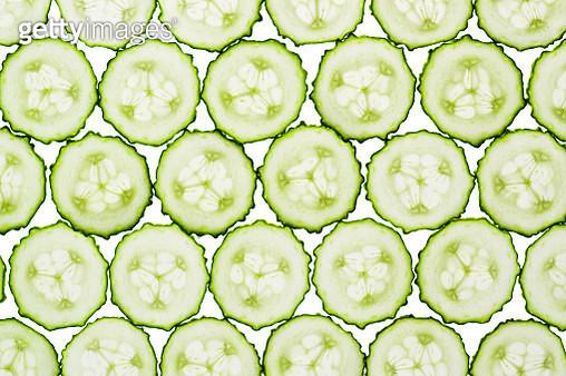 Cucumber Slices Full Frame Shot - gettyimageskorea