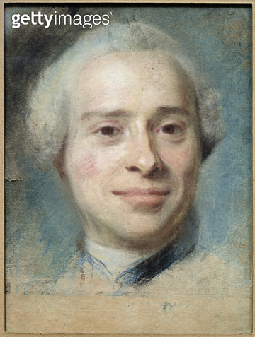<b>Title</b> : Portrait of Jean Le Rond d'Alembert (1717-83) 1753 (pastel on paper)<br><b>Medium</b> : pastel on paper<br><b>Location</b> : Musee Antoine Lecuyer, Saint-Quentin, France<br> - gettyimageskorea
