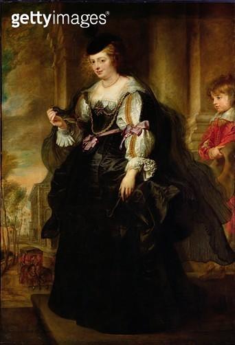 <b>Title</b> : Portrait of Helene Fourment with a Coach, c.1639 (oil on panel)<br><b>Medium</b> : oil on panel<br><b>Location</b> : Louvre, Paris, France<br> - gettyimageskorea