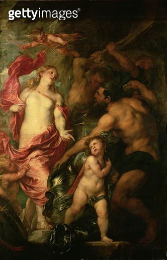 <b>Title</b> : Venus asking Vulcan for the Armour of Aeneas (oil on canvas)<br><b>Medium</b> : oil on canvas<br><b>Location</b> : Louvre, Paris, France<br> - gettyimageskorea