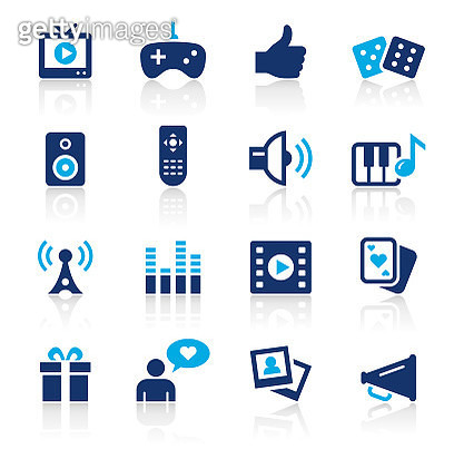 Entertainment Two Color Icons Set - gettyimageskorea