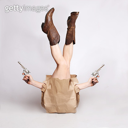 Cowgirl in a bag - gettyimageskorea