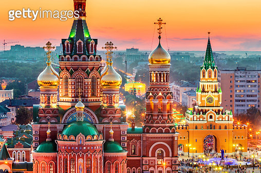 View of Russian City at Sunset - gettyimageskorea