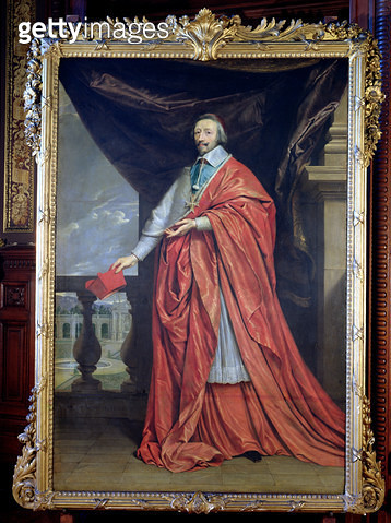 <b>Title</b> : Portrait of Armand-Jean du Plessis, Cardinal Richelieu (1585-1642) (oil on canvas)<br><b>Medium</b> : <br><b>Location</b> : La Sorbonne, Paris, France<br> - gettyimageskorea