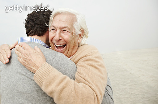 Father and son hugging - gettyimageskorea