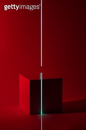 Laser Scanning Cube Block Shape - gettyimageskorea