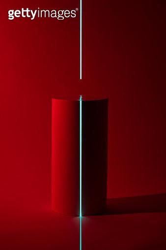 Laser Scanning Cylinder Shape - gettyimageskorea