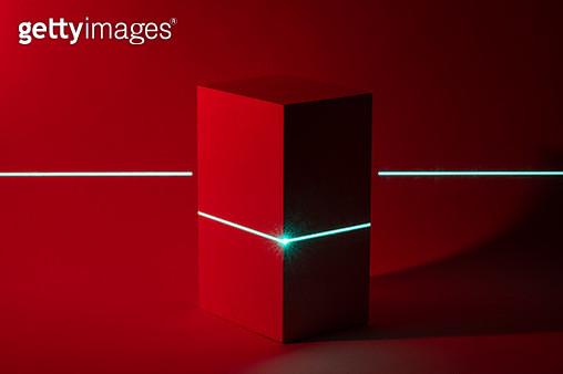Laser Scanning Cuboid Shape - gettyimageskorea